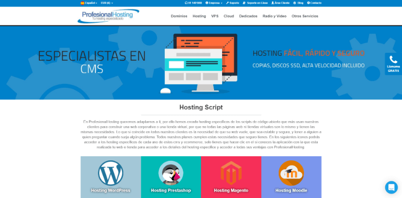 profesional hosting WordPress